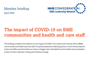 Read more about the article The impact of COVID-19 on BME communities and health and care staff