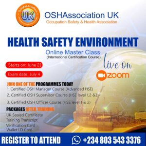 Read more about the article HEALTH SAFETY ENVIRONMENT TRAINING