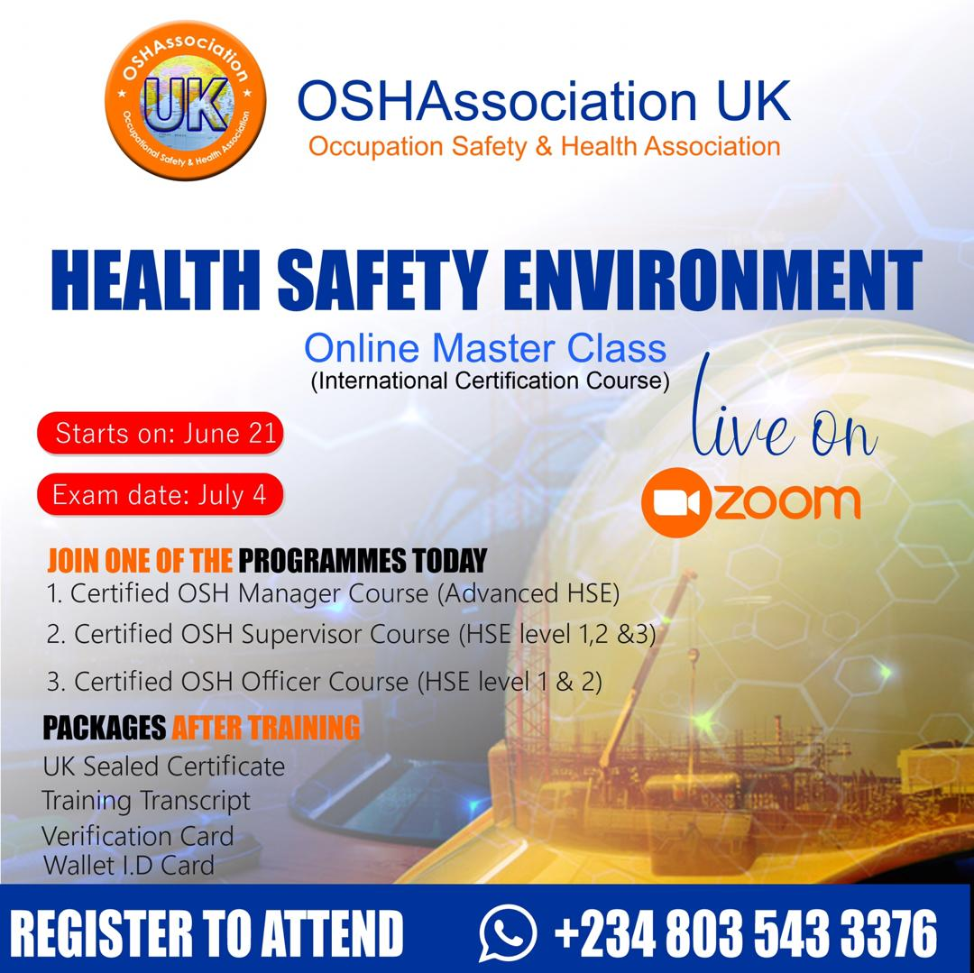 You are currently viewing HEALTH SAFETY ENVIRONMENT TRAINING
