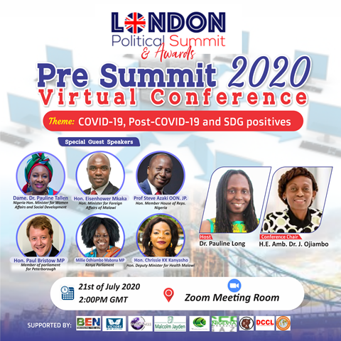 You are currently viewing London Political Summit Kicks Off with Pre-Summit – July 21st – Malawi Minister of Foreign Affairs Hon Mkaka amongst Other Special Guest Speakers