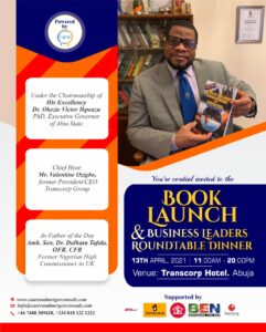 Read more about the article BOOK LAUNCH AND BUSINESS LEADERS ROUND TABLE DINNER
