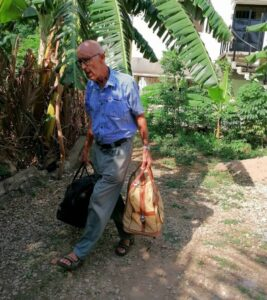 Read more about the article 81 Year Old Fr. Adolf Omogaka Poll Returns Home for Retirement with Only Two Small Bags