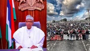 Read more about the article JUNE 12 PROTEST: #IStandWithBuhari#)  Protesters Fight Themselves in Abuja