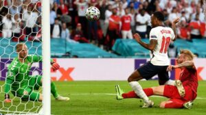 Read more about the article Euro 2020: England reaches first major final since 1966 after tense Euro 2020 victory over Denmark