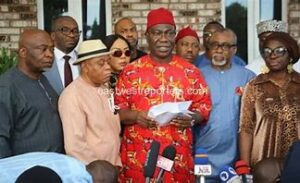 Read more about the article South East Caucus Of The National Assembly Holds Extraordinary Meeting; Deliberates on sit-at-home orders and the Detention of Mazi Nnamdi Kanu.